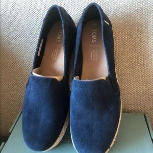Toms blue suede espadrille 8